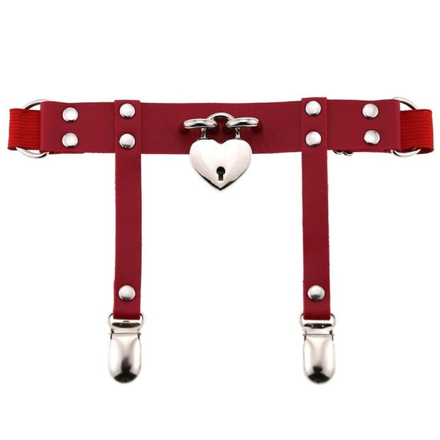Heart Lock Garter (6 Colors Available)