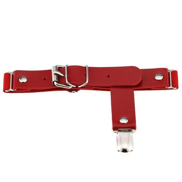 Faux Leather Belt Garter (5 Colors Available)