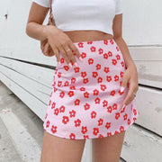 Retro Flower Child Mini Skirt