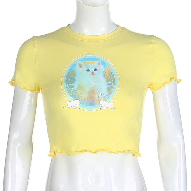 Baby Cat Crop Top (3 Colors Available)