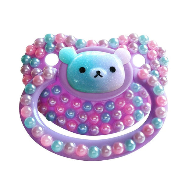 Pastel Kuma Decorated Adult Pacifier
