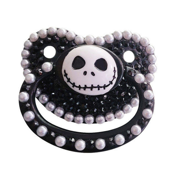 Spooky Skeleton Decorated Adult Pacifier