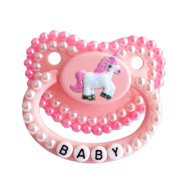 Baby Unicorn Decorated Adult Pacifier
