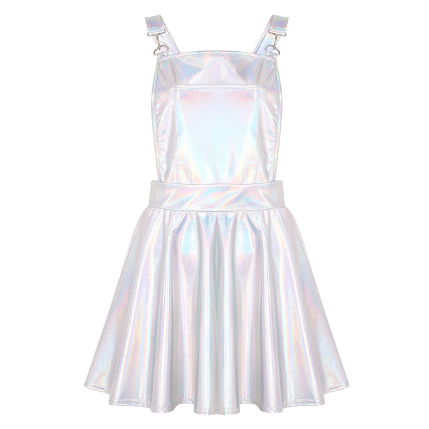 Holographic Overall Dress (4 Colors Available)