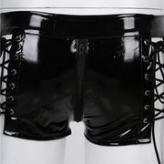 Lace-Up Vegan Leather Panties