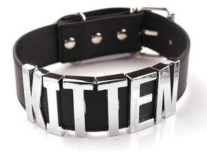 """Kitten"" Leather Collar"