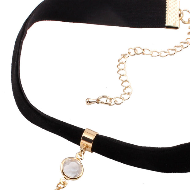 Soft Beautiful Moon Choker Necklace Collar (2 Colors Available)