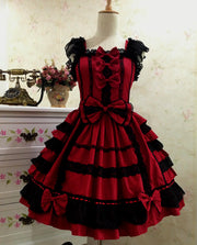 Red Chiffon Lace Lolita Dress