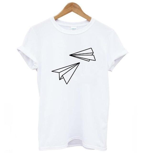 Paper Airplane T-Shirt (3 Colors Available)