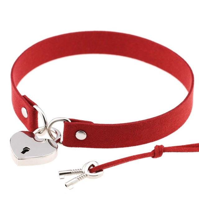 Classic Heart Lock Collar (12 Colors Available)