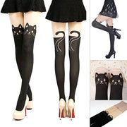 Adorable Black Kitten Stockings