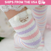Soft Fleece Animal Thigh-High Socks (15 Styles Available)