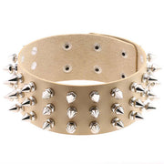 Spiked Leather Collar (16 Colors Available)