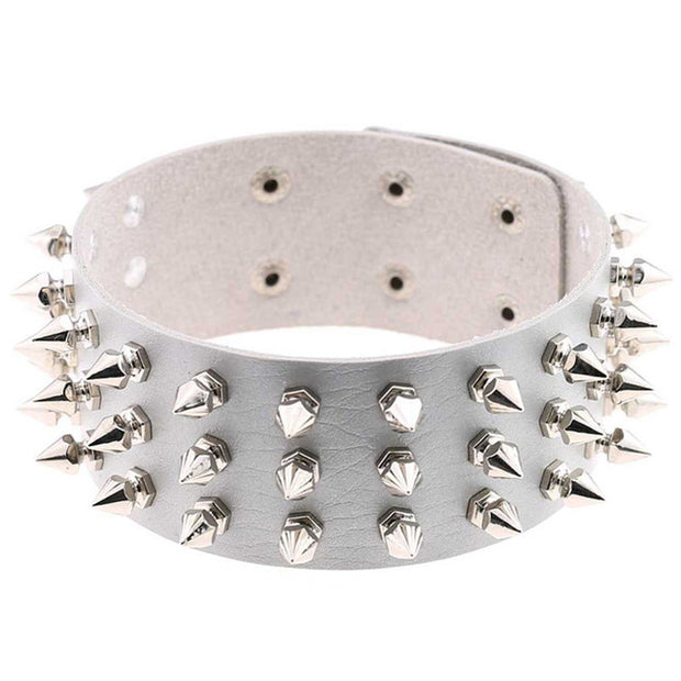 Spiked Vegan Leather Collar (14 Colors Available)