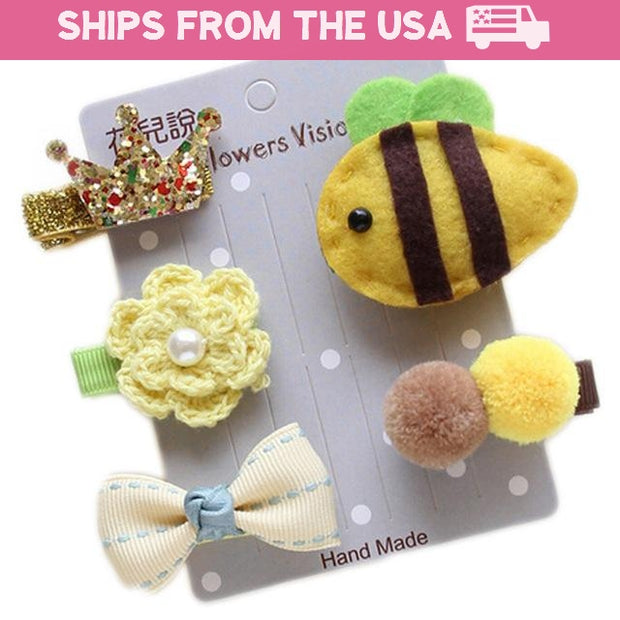 Queen Bumblebee 5-Piece Hair Accessory Set