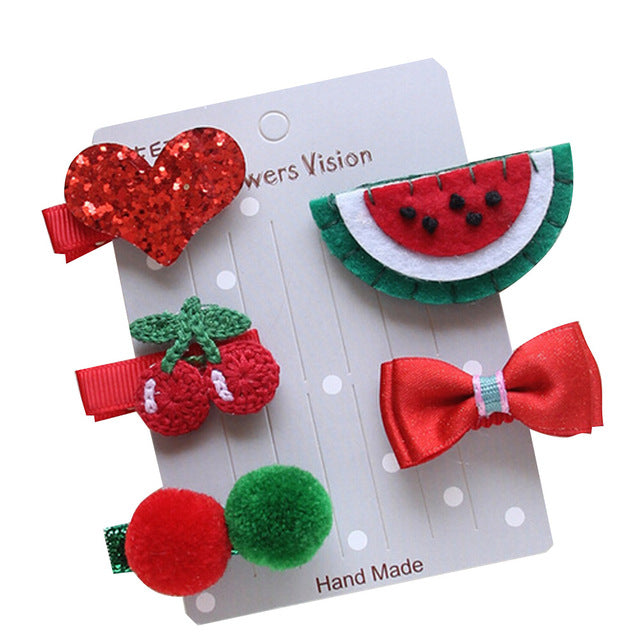 Sweet Watermelon 5-Piece Hair Accessory Set