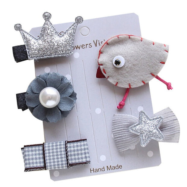Silver Birdie 5-Piece Hair Accessory Set