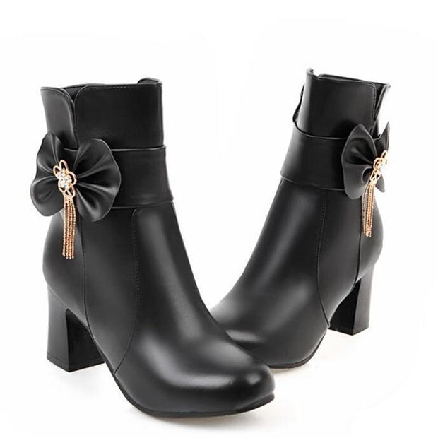 Adorable Lolita Ankle Boots (3 Colors Available)