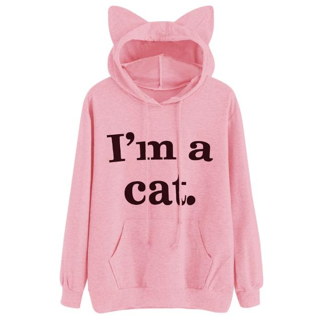 """I'm a Cat"" Cat Ear Hoodie (3 Colors Available)"