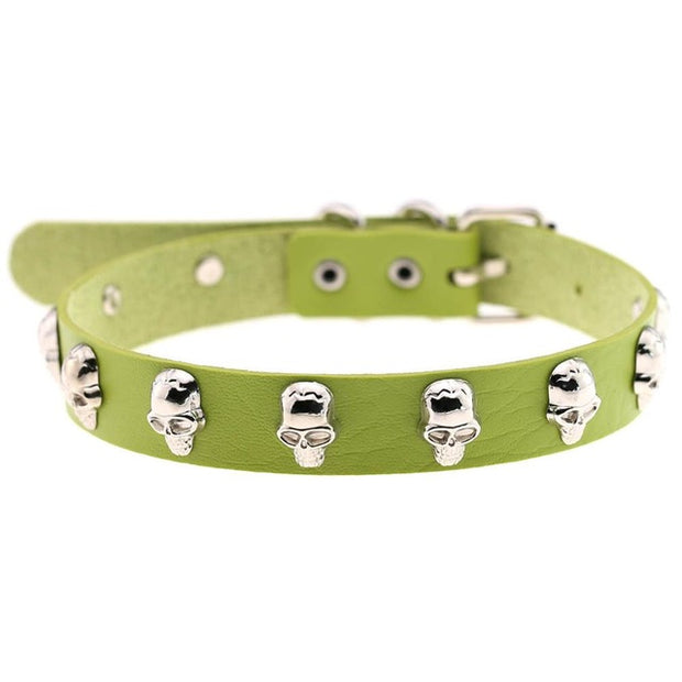 Skull Rivet Collar (14 Colors Available)