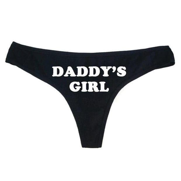 """Daddy's Girl"" Thong Panties (3 Colors Available)"