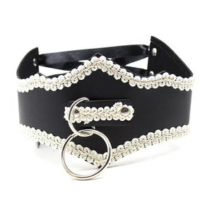 Gothic Maid Leather Collar (2 Colors Available)