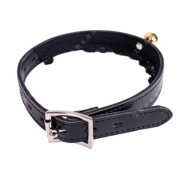 Lace Kitten BDSM Bell-Collar