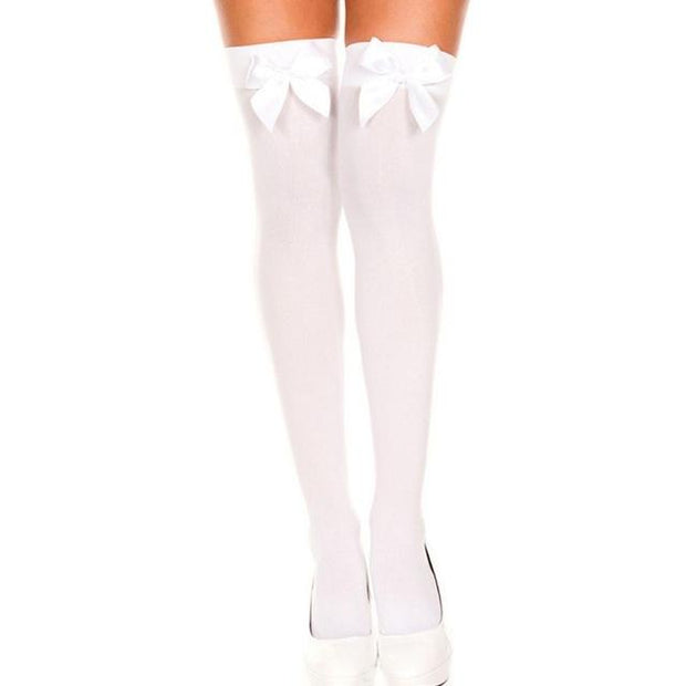 Sexy & Sheer Bow Knot Thigh-High Stockings (6 Colors Available)