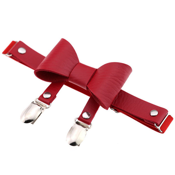 Bow Knot Leather Garter (5 Colors Available)