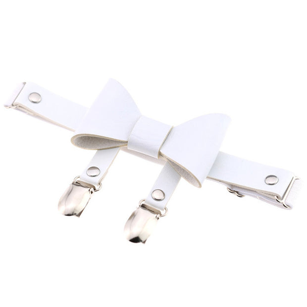 Bow Knot Vegan Leather Garter (5 Colors Available)