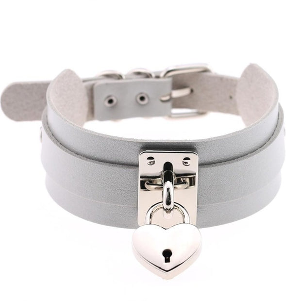 Oversized Heart Lock Collar (14 Colors Available)
