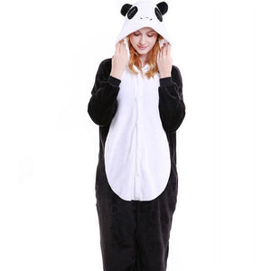 Cozy Panda Fleece Hooded Pajamas