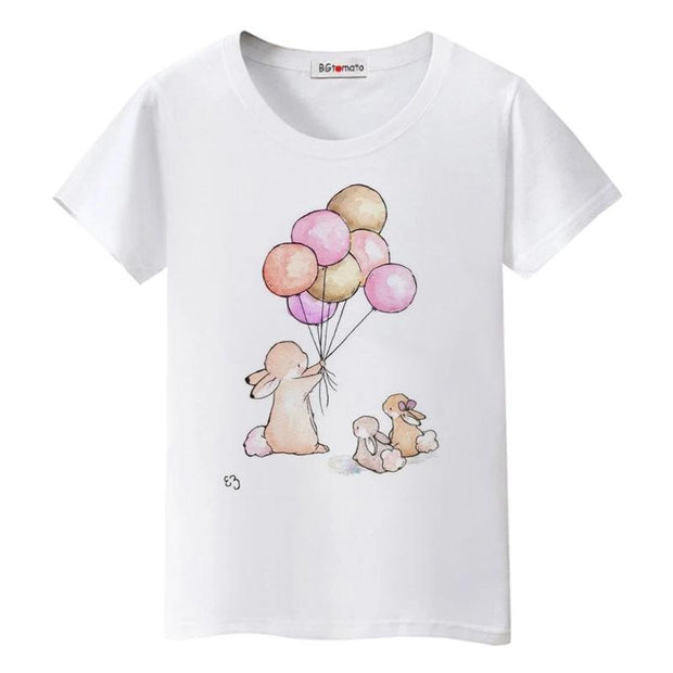 Cute Bunny Balloon T-Shirt