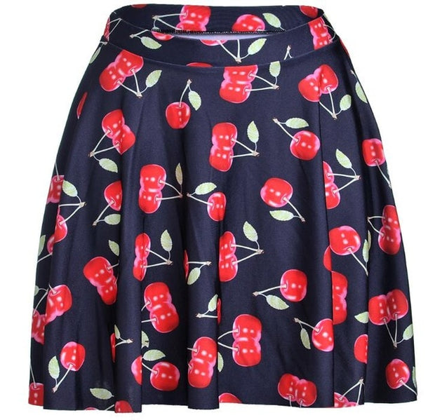 Black Cherry Skater Skirt