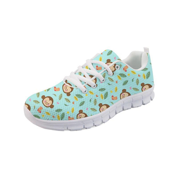 Little Monkey Print Sneakers