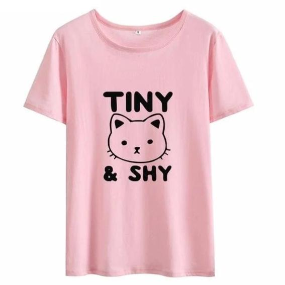 """Tiny and Shy"" Kitten T-Shirt (4 Colors Available)"