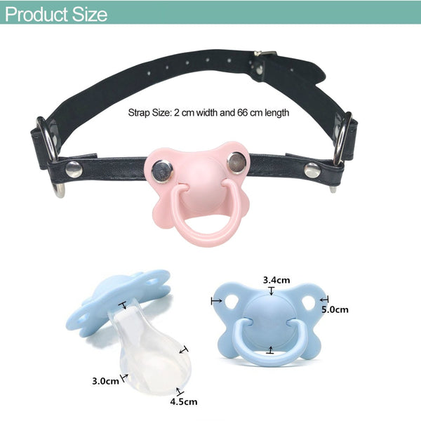Black Pacifier Gag (5 Colors Available)