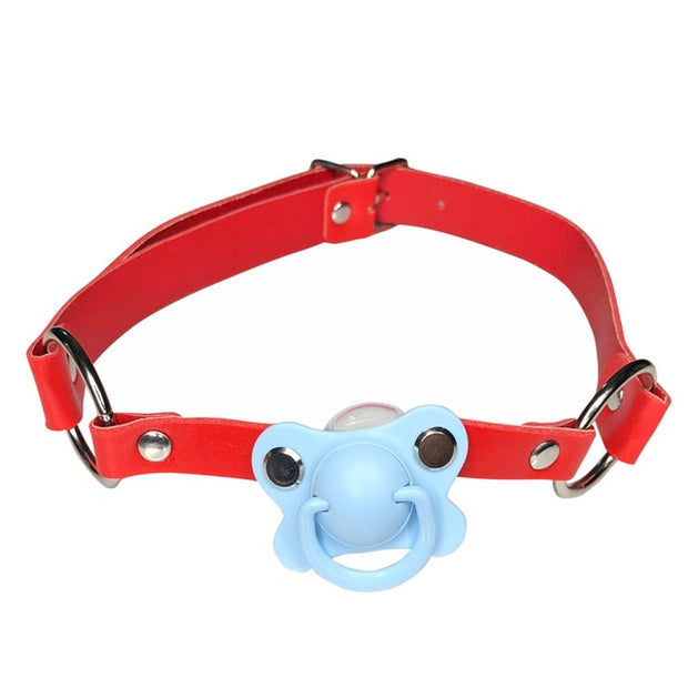 Red Pacifier Gag (5 Colors Available)