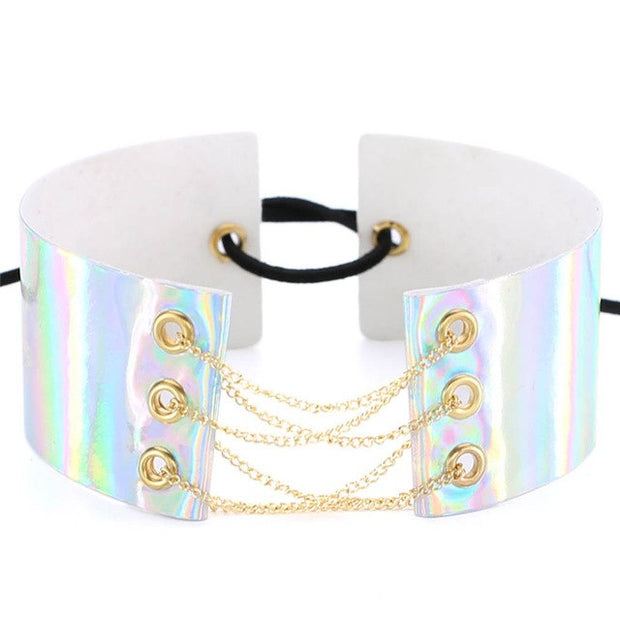 Punk Chain Holo Collar (4 Colors Available)