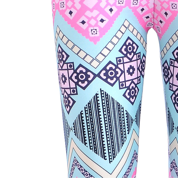 Pastel Tribal Print Leggings