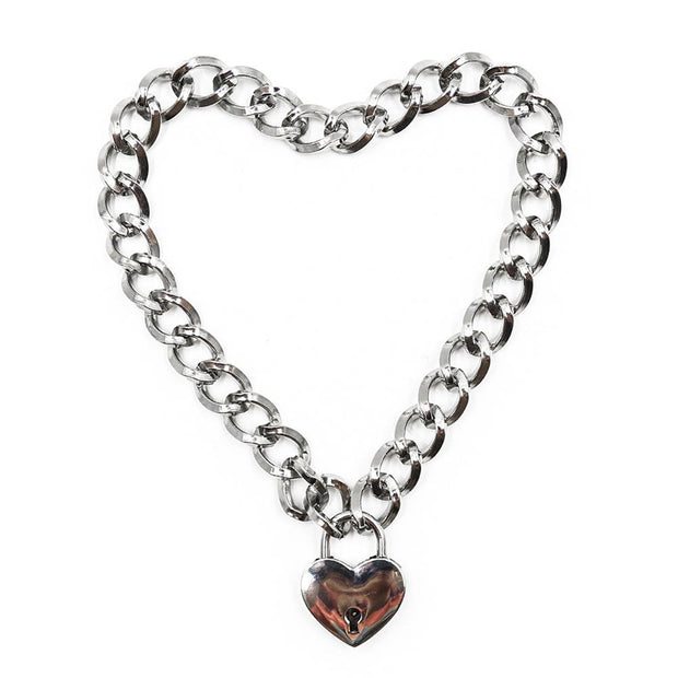 Heart Padlock Chain Collar