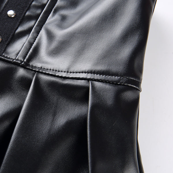 Sexy High Waisted Faux Leather Skirt