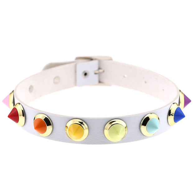Colorful Rivet Collar (13 Colors Available)