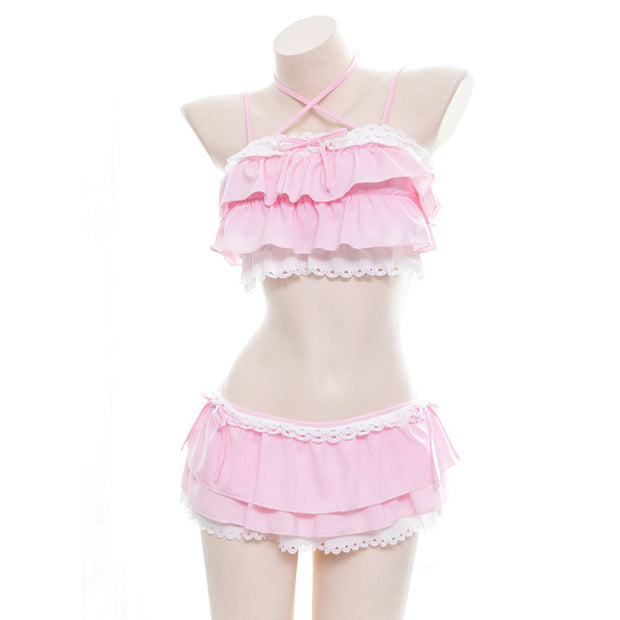 Ruffled Lolita Lingerie Set (2 Colors Available)