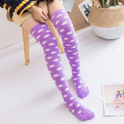 Pastel Polka Dot Fleece Thigh High Socks (2 Colors Available)