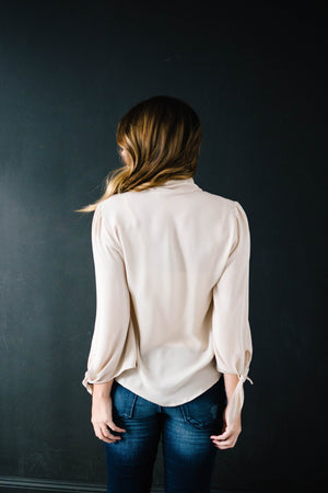 All Tied Up Blouse in Cream
