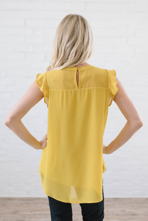 Bowery Blouse In Mustard