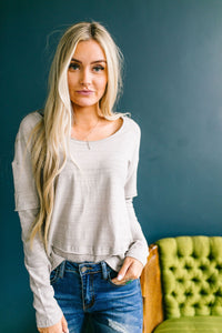 Burn Baby Burnout Layered Tee In Gray - ALL SALES FINAL