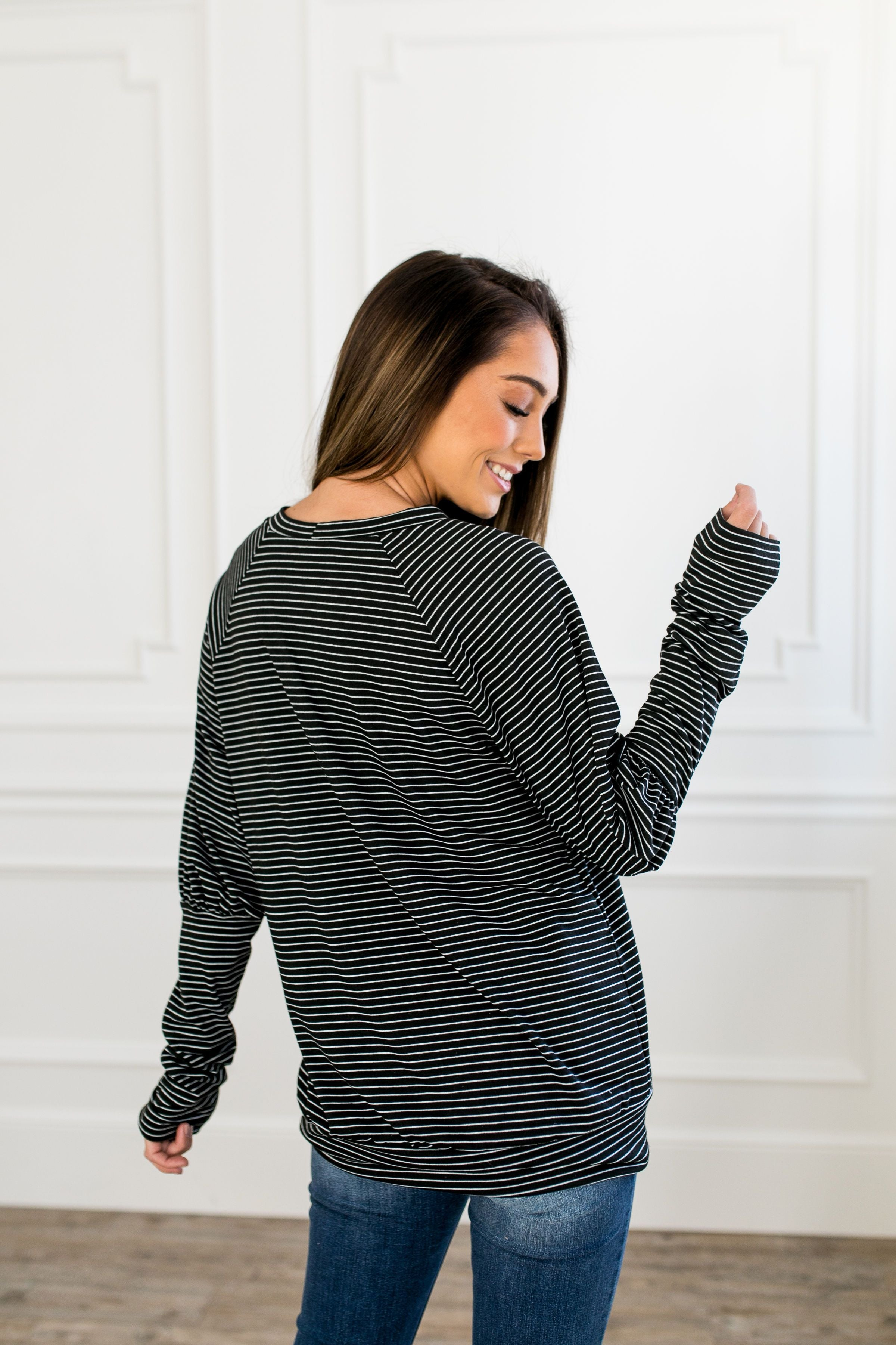 Carefree Weekend Striped Top