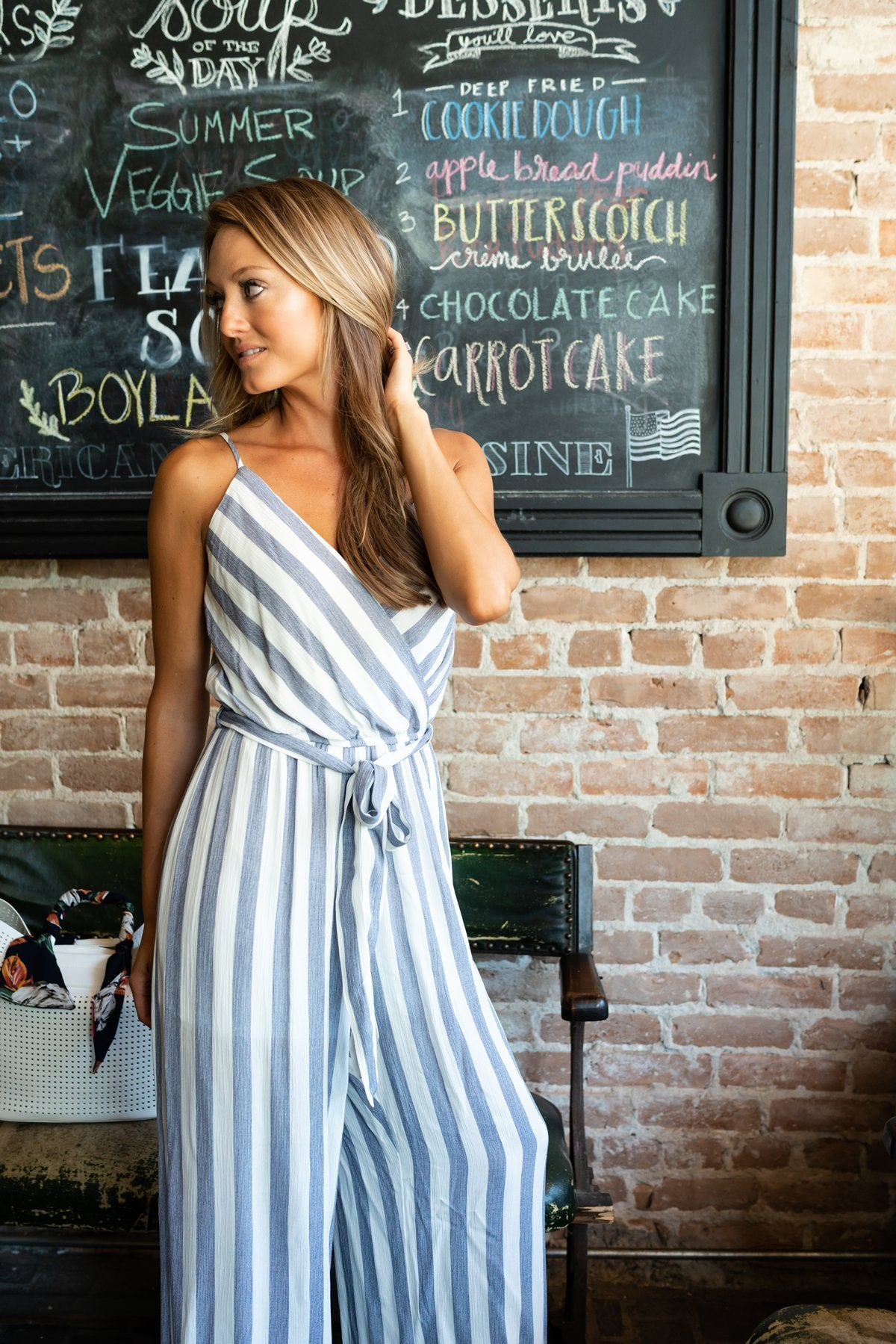 Cascade Striped Jumpsuit